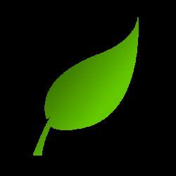 Green Leaf Clip Art at Clker.com - vector clip art online, royalty ...