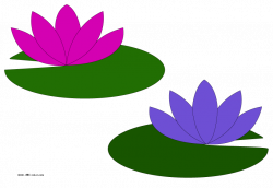 Raster clipart water lilies