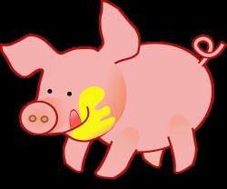 Clipart - Happy Pig