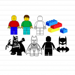 INSTANT DOWNLOAD - Lego Svg, Lego Batman Svg, Lego Svg Files, Lego Clipart,  Lego Digital Cut File, Lego SVG Cut Files, Lego Cliparts