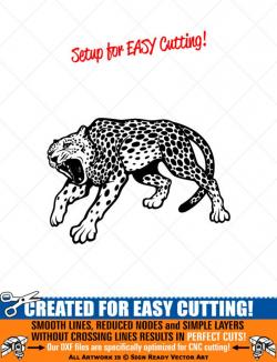 LEOPARD Clipart-Vector Clip Art Graphics-Digital Download Image-Cut Ready  Files-CNC-Logo-Mascot-Vinyl Sign Design-eps, ai, svg, dxf, png,pdf