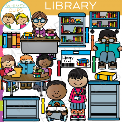 At The Library Clip Art , Images & Illustrations | Whimsy Clips
