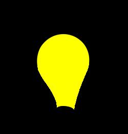 OnlineLabels Clip Art - Light Bulb Lit
