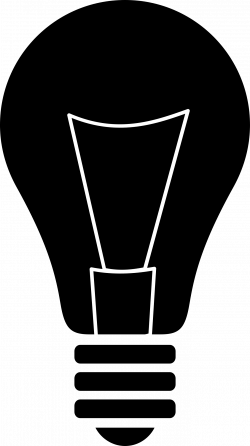 Clipart - Light bulb silhouette