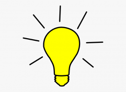 Gallery For Yellow Light Bulb Clipart - Black And White ...