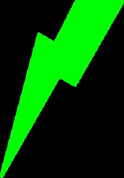 Green Lightning Bolt Clip Art at Clker.com - vector clip art ...