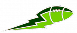 Lime Green And Green Football Lightning Big | Free Images at Clker ...