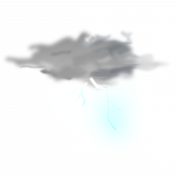 Clipart - weather icon - thunder