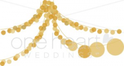 Party Lights Clipart | Wedding Ceremony Clipart