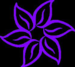 Purple Lily Clip Art at Clker.com - vector clip art online, royalty ...
