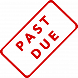 Clipart - Past Due Business Stamp 1