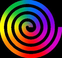 Clipart - Rainbow Spiral