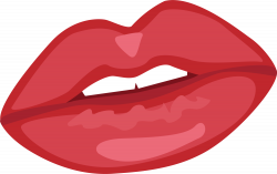 Lip Red Android application package Icon - Red cartoon lips 2000 ...