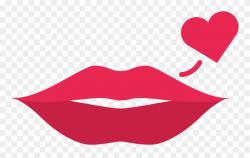 Lips Clipart Simple - Dibujo Labios Rojos - Png Download ...