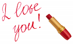 I love You with Lipstick PNG Picture | Gallery Yopriceville - High ...