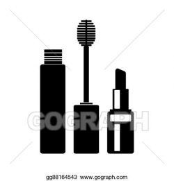Stock Illustration - Mascara and lipstick icons. Clipart ...