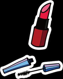 Lipstick Mascara Cartoon - Cartoon lipstick material 1275*1612 ...