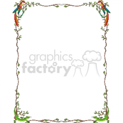 Parrot and Lizard border clipart. Royalty-free clipart # 134318