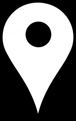 Location Pin White Clip Art at Clker.com - vector clip art online ...