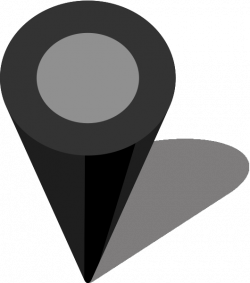 Simple location map pin icon Black free vector data | SVG(VECTOR ...