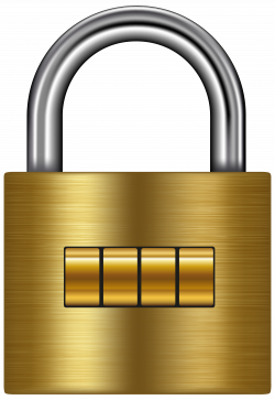 Lock Gold PNG Clip Art - Best WEB Clipart
