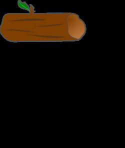 Brown Log With Leaf PNG, SVG Clip art for Web - Download ...