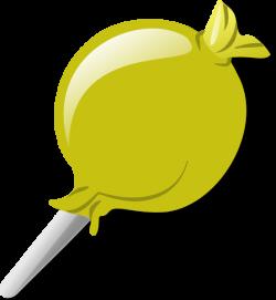 Yellow Lolly Clip Art at Clker.com - vector clip art online, royalty ...