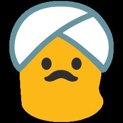File:Noto Emoji Lollipop 1f473.svg - Wikimedia Commons