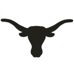 Longhorn Silhouette Clip Art | Bull skull | Cowgirls Party | Country ...