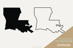 Louisiana Vector Clip Art