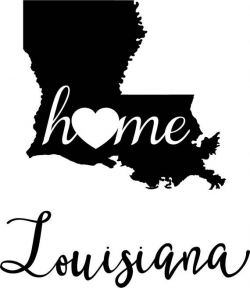 Louisiana State Map digital file: SVG PNG Jpg eps Vector Graphic Clip Art  LA Outline Louisiana home state - great state geography outline