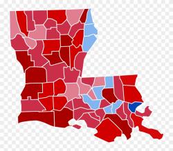 Louisiana Svg File - Louisiana 2016 Election Results Clipart ...