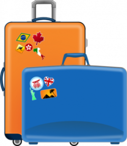 Luggage Clip Art at Clker.com - vector clip art online, royalty free ...