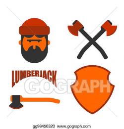 EPS Illustration - Lumberjack icon set. woodcutter sign ...