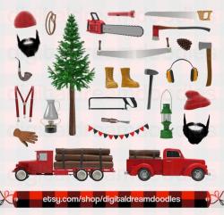 Lumberjack Clipart, Lumberjack Clip Art, Logger Graphic ...