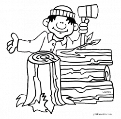 28+ Collection of Lumberjack Clipart Black And White | High quality ...