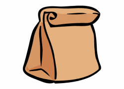 Lunch Box Clipart Sack Pencil And In Color Png - Brown Bag ...