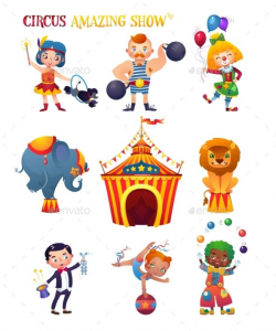 Circus Cartoon Characters. - People Characters | Circus ...