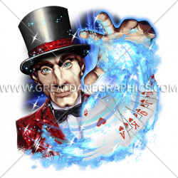 Vegas Magician | Production Ready Artwork for T-Shirt Printing