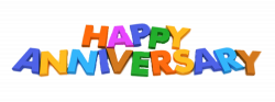 Happy Anniversary Magnet Letters transparent PNG - StickPNG