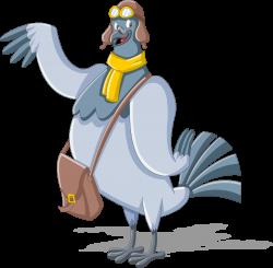 Homing pigeon Mail carrier Cartoon Clip art - pigeon 3477*3408 ...