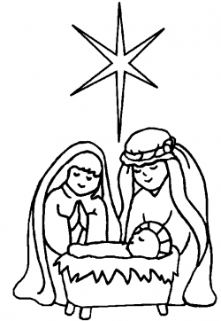 Nativity black and white free nativity clipart black and ...