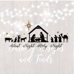 DIGITAL DOWNLOAD nativity svg silent night svg manger svg ...