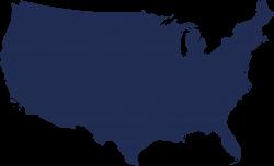 Maps Of Us Outline Blue Png | Cdoovision.com