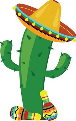 Cactus Maracas IN A Sombrero stock vectors - Clipart.me