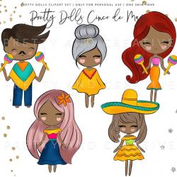 Pretty Dolls Cinco de Mayo, Mexican clipart, Mexico clipart, Fiesta  clipart, 5 de mayo, Maracas clipart, Cinco de mayo, Ccrapbook clipart,