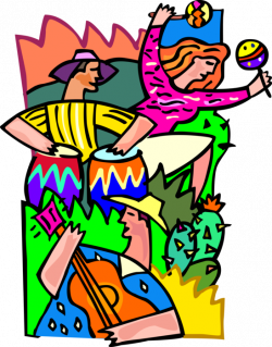 Summer Beach Party with Partygoers - Vector Image