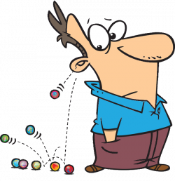 Marbles Rolling Out Of Cartoon Man's Ear | Art- Images- PNG's ...