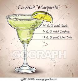 Vector Art - Cocktail alcohol margarita. Clipart Drawing ...