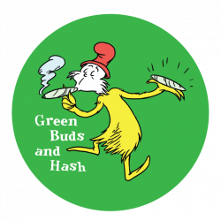 Sticker: Mr Stash - Green Buds and Hash – Pothead Books